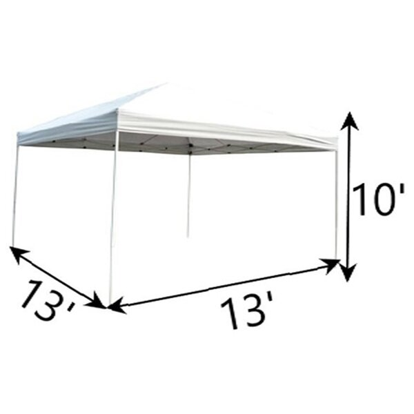 Outsunny 13 Ft W X 13 Ft D Steel Pop Up Canopy Reviews Wayfair