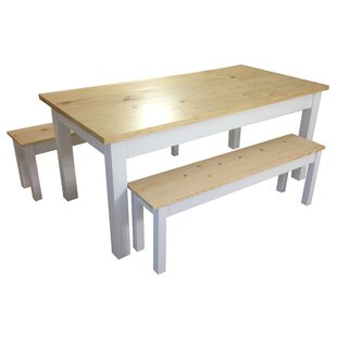 Jarrard Farmhouse Solid Wood Dining Table
