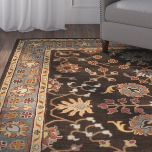 Cranmore Hand-Tufted Brown/Blue Area Rug By Charlton Home