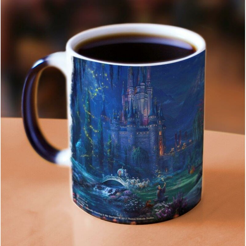 Thomas Kinkade Disney S Cinderella Dancing Heat Reveal Coffee Mug