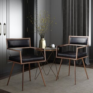 Deacon Black Croc Bar 3 Piece Dining Set