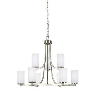 Burnley 60W 9-Light Shaded Chandelier by Darby Home Co