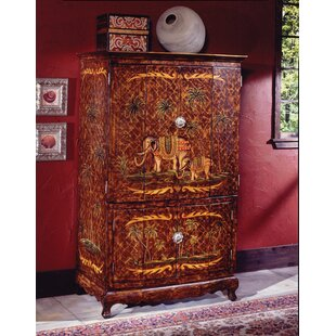 Bloomsbury Market Reiter Hand-Painted TV Armoire
