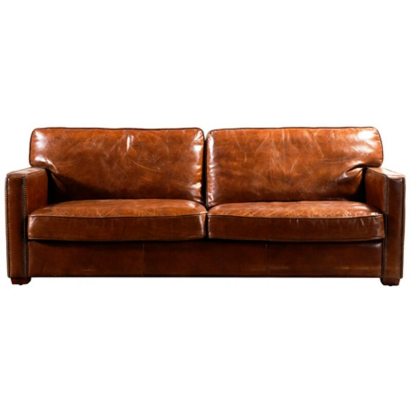Reaves Battersea Leather Sofa