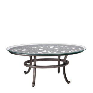 Woodard New Orleans Coffee Table with Glass Top