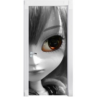 Beautiful Pullip Doll In Green Summer Meadow Door Sticker By East Urban Home