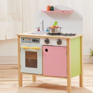 Pretend Play Pink Kitchen