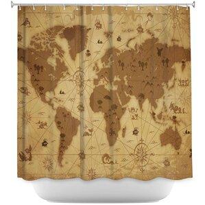 World Map Shower Curtain  Wayfair