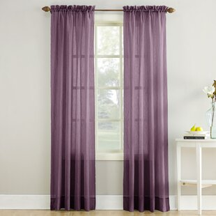 Maxon Solid Sheer Rod Pocket Single Curtain Panel by Charlton Home