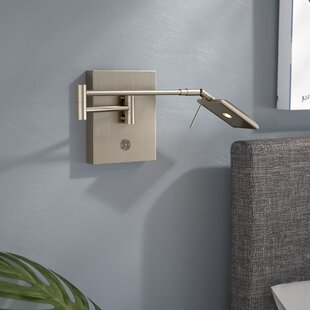 Heimbach 1-Light LED Plug-In Swing Arm Lamp by Wade Logan