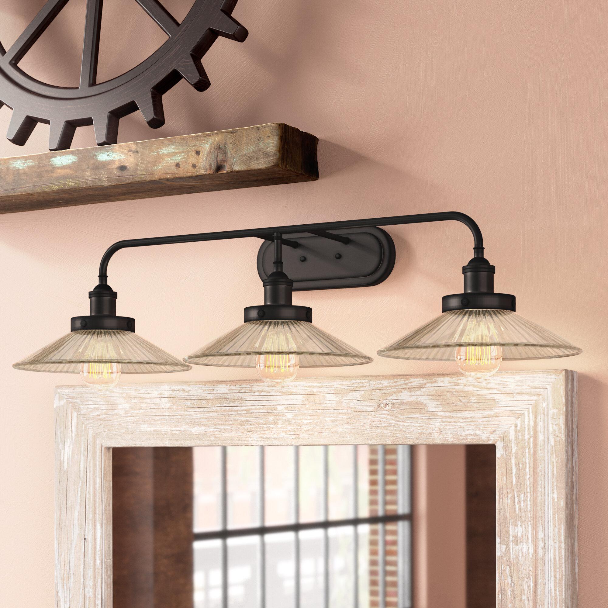 Williston Forge Lisbeth 3 Light Dimmable Oil Rubbed Bronze Vanity Light Reviews Wayfair