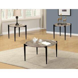 Latitude Run Bolt 3 Piece Coffee Table Set