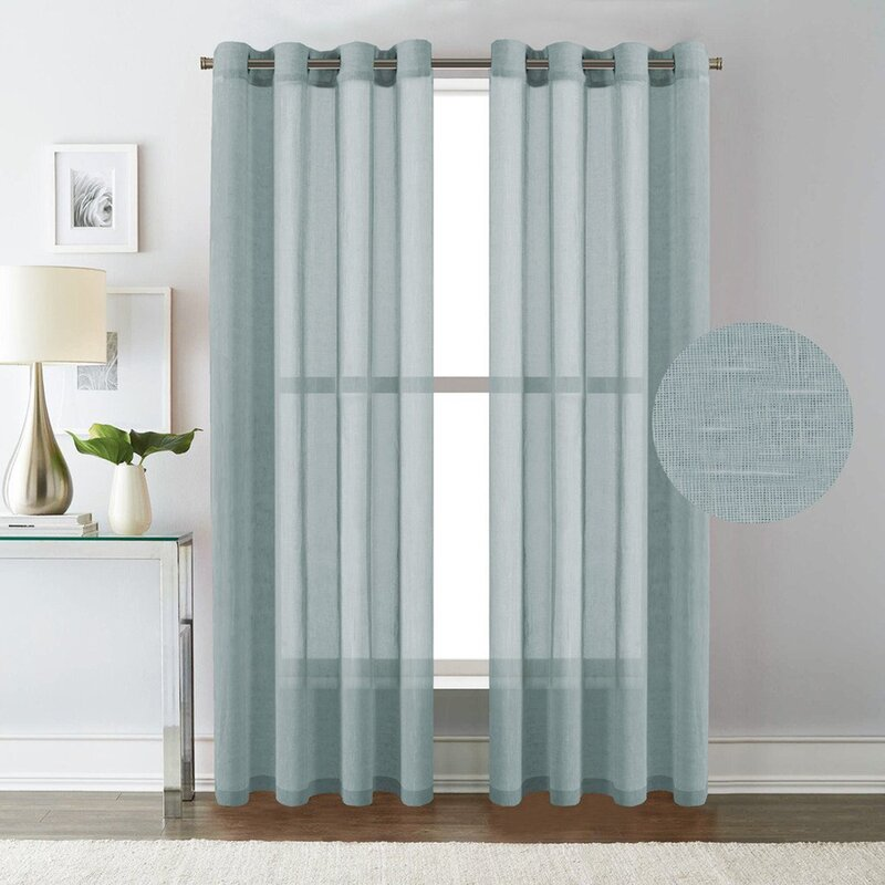 Highland Dunes Langford Solid Semi Sheer Grommet Curtain Panels Reviews Wayfair Ca