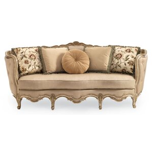 Drakeford French Carved Wood Sofa by Astoria Grand