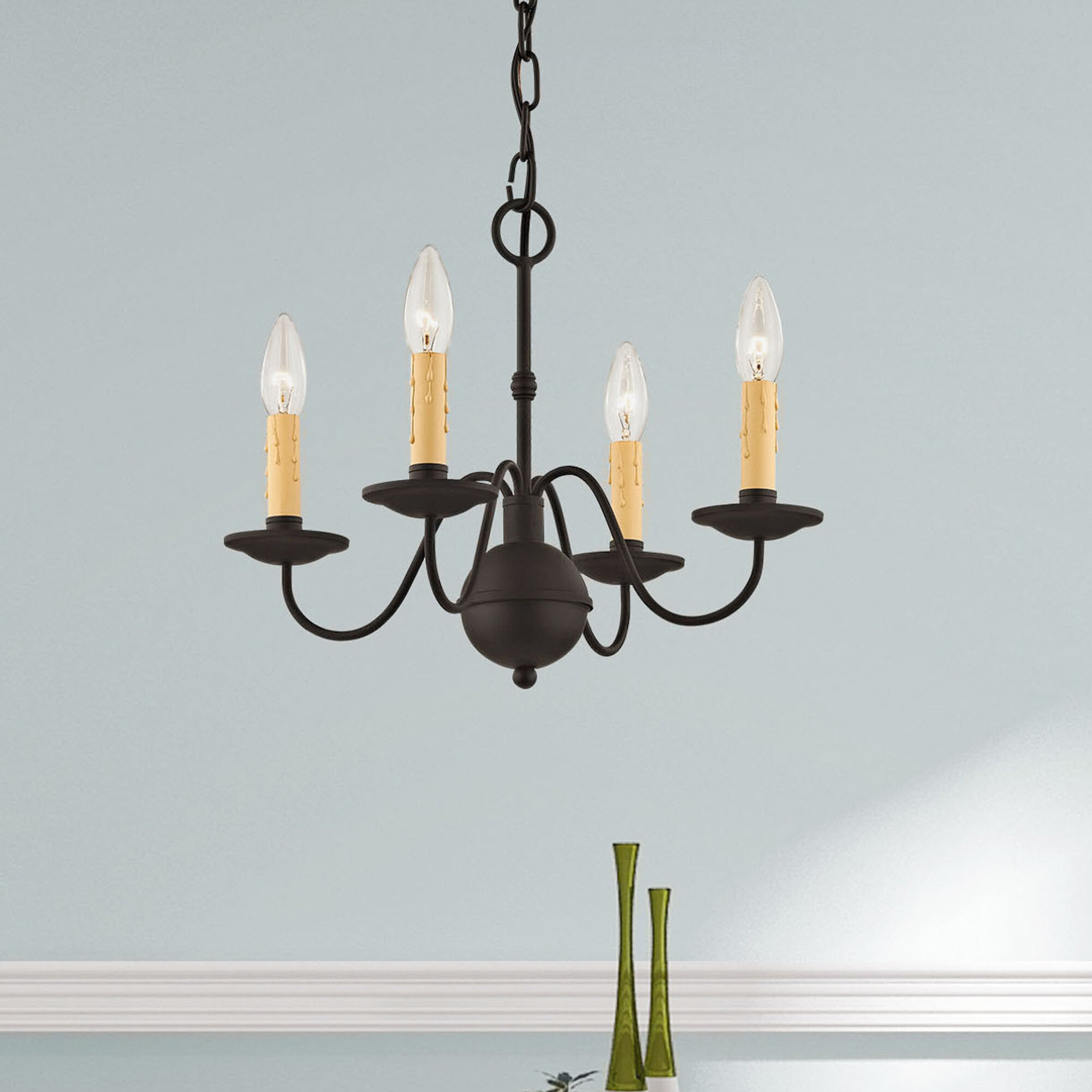Darby Home Co Eberhart 4 Light Candle Style Traditional Chandelier Reviews Wayfair