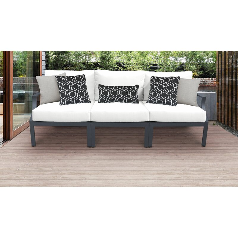 Ivy Bronx Benner Outdoor Aluminum 3 Piece Sectional Seating Group With Cushion Reviews