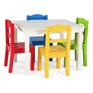 Ogallala Kids' 5 Piece Rectangular Table and Chair Set by Harriet Bee