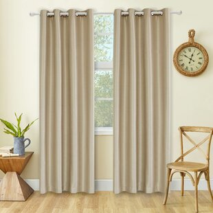Kensington Solid Max Blackout Thermal Grommet Curtain Panels (Set of 2) by Gracie Oaks