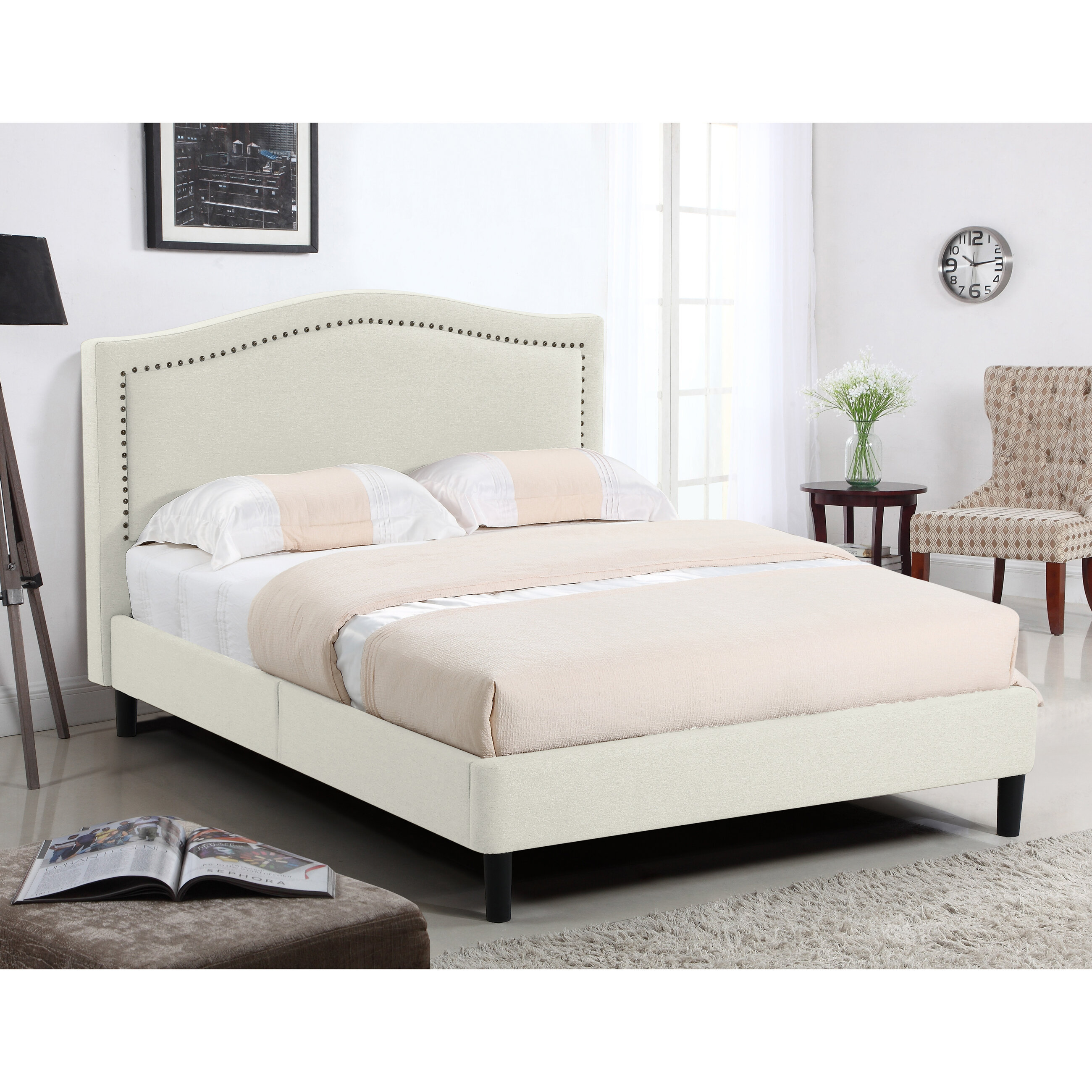 House Of Hampton Perseus Queen Upholstered Platform Bed Wayfair