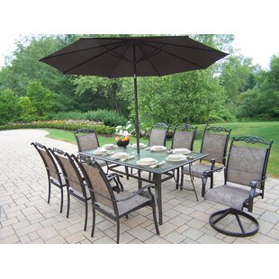 Basile Dining Set with Umbrella