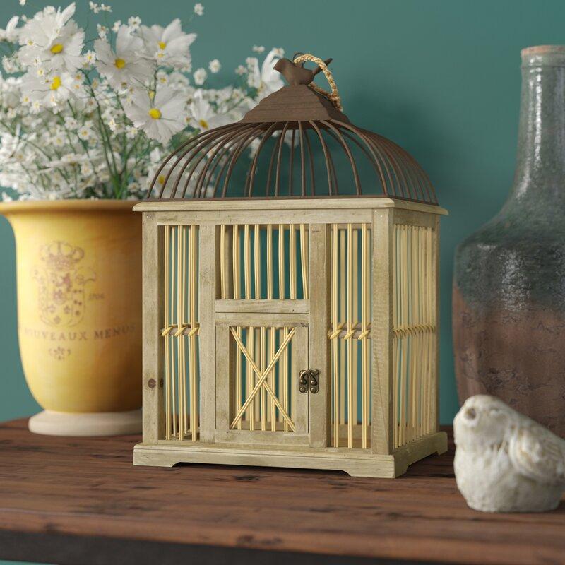 middlebrooks wood decorative bird cage - Decorative Bird Cages
