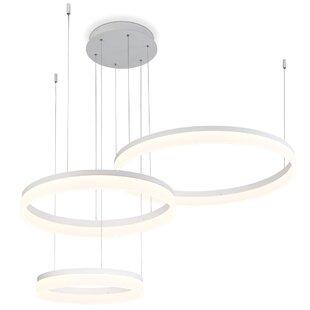 Orren Ellis Clarisa Frosted 3-Light LED Chandelier