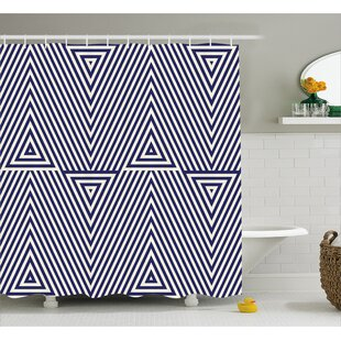 Bermudez Triangle and Stripes Single Shower Curtain
