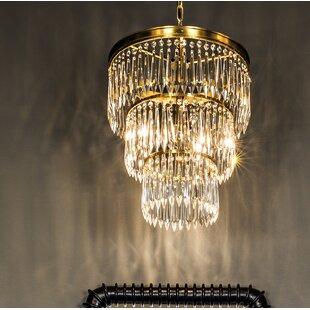 Venice 3-Light Crystal Chandelier by Noir
