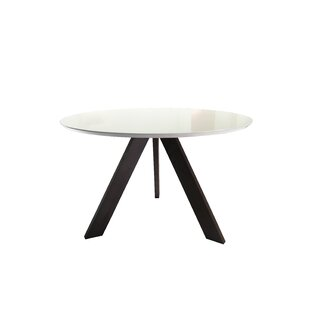 Wrought Studio Ramsay Mid Century Modern Solid Wood Dining Table