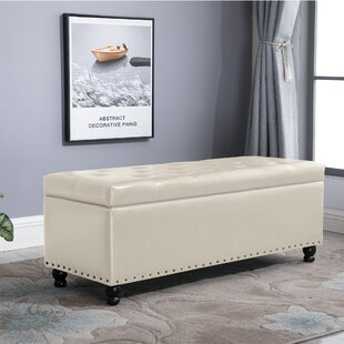Charlton Home Velez Rectangular Tufted Storage Ottoman