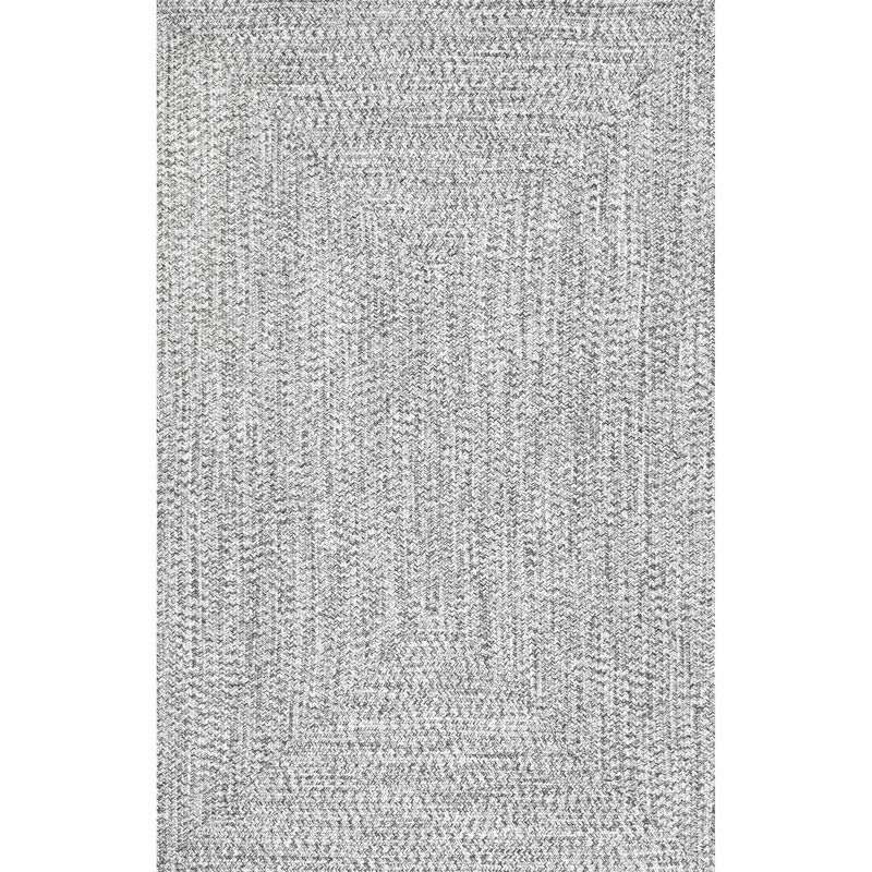Wade Logan Kulpmont Hand Braided Grey Indoor Outdoor Area