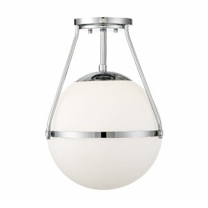 Michaela 1-Light Semi Flush Mount