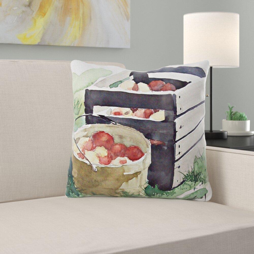 Ebern Designs Bumgarner Watercolor Throw Pillow Wayfair