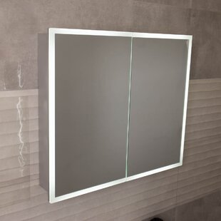 Yinn 80 X 70cm Surface Mounted Mirror Cabinet With LED Lightning By Wade Logan