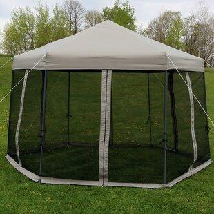 Enola 12 Ft. W x 12 Ft. D Steel Pop-Up Canopy & Pop Up Canopy With Mesh Walls   Wayfair
