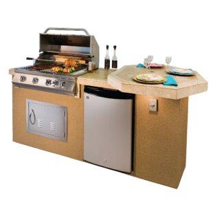 outdoor kitchen burner grill poly bbq island outdoor kitchen 4burner builtin convertible gas grill burner wayfair
