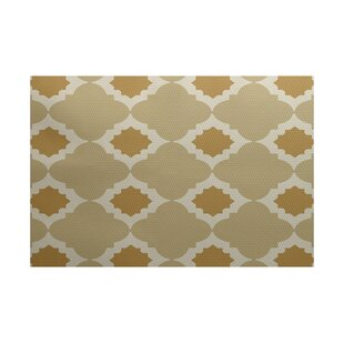 McGuinness Geometric Print Gold Indoor/Outdoor Area Rug