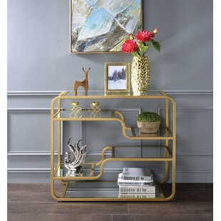 Abdiel Metal Framed Console Table By Everly Quinn