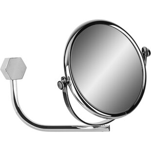 Deals Hundley Hexagonal Double-Sided Makeup/Shaving Mirror By Alcott Hill