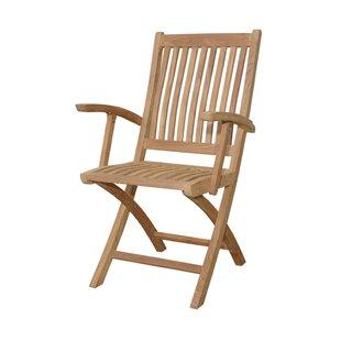 Tropico Folding Teak Patio Dining Chair (Set of 2)