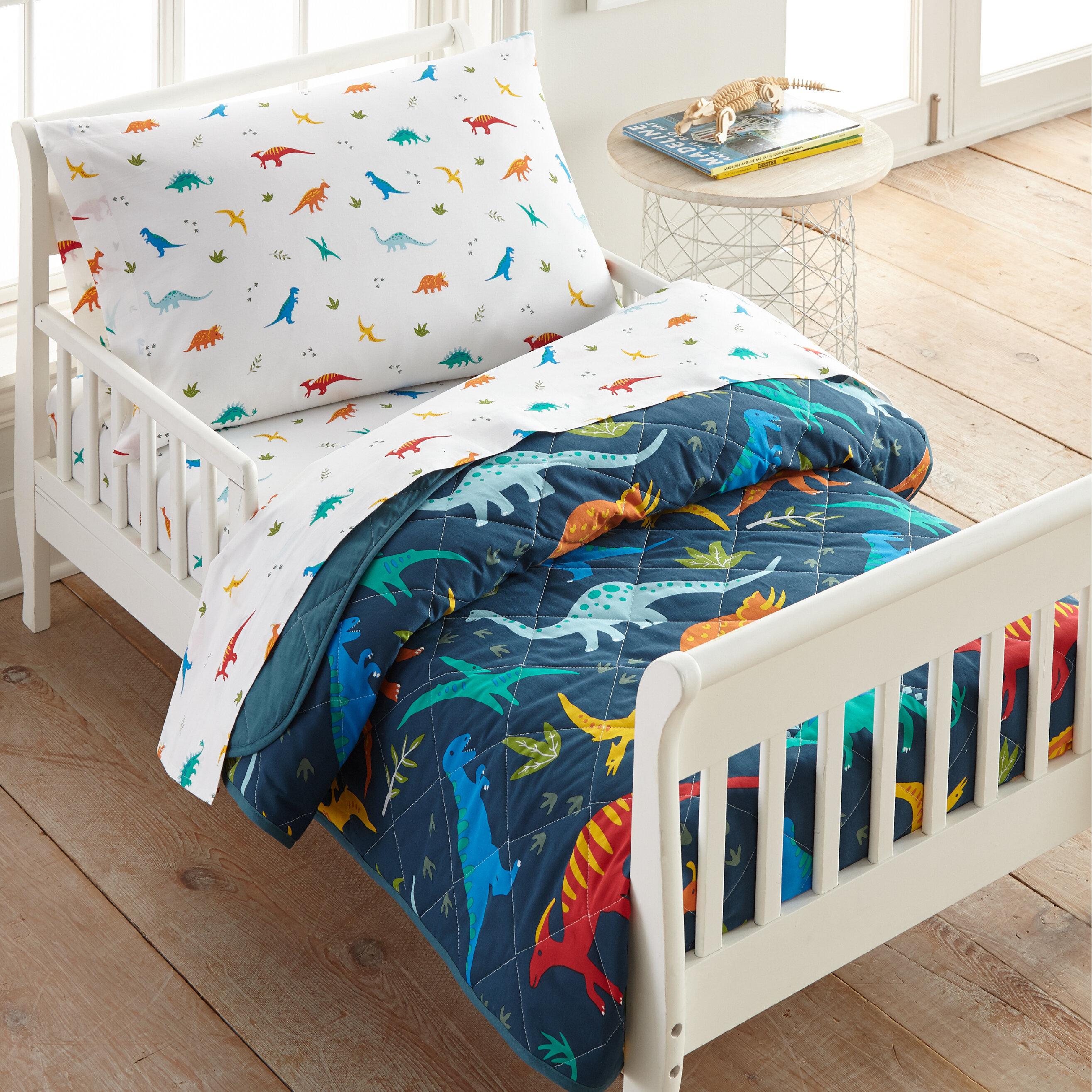 Wildkin Jurassic Dinosaurs Cotton 4 Piece Toddler Bedding Set Wayfair