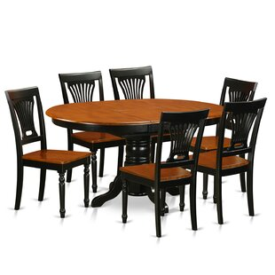 Emmaline 7 Piece Extendable Solid Wood Dining Set Alcott Hill