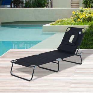 Vanness Reclining Sun Lounger With Cushion Image