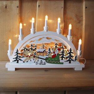 German Christmas 11 Light Table Lamp