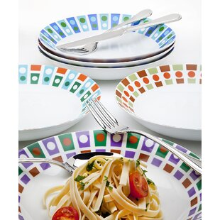 6 Piece Assorted Roulette Pasta Bowl Set