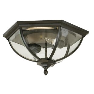 Charlton Home Oakhill Bronze 2-Light Flush Mount
