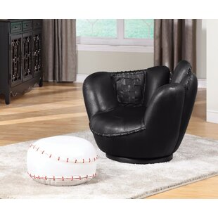 Knopf Kids Baseball Chair and Ottoman by Zoomie Kids