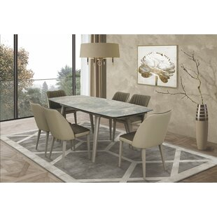 Ines 7 Piece Extendable Dining Set