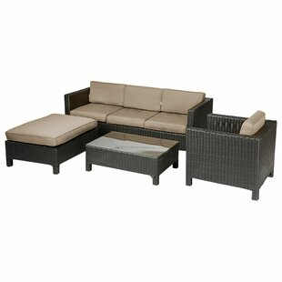 Brookfield 4 Piece Sectional Set With Cushions by Breakwater Bay #1