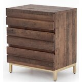 Heuer 3 - Drawer Nightstand in Brown by Foundry Select